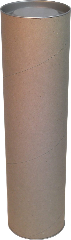 тубус картонный с жестяной крышкой, 73*400мм a00011 фотография