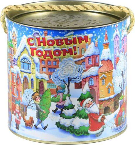 "новогодний тубус ""городок"" b00042 фотография"