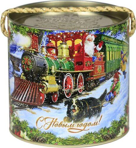 "новогодний тубус ""поезд деда мороза"" b00046 фотография"