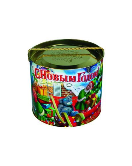 """новогодний тубус """"сани"""" b00054 фотография"""