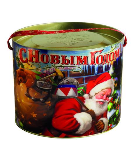"""новогодний тубус """"упряжка"""" b00025 фотография"""