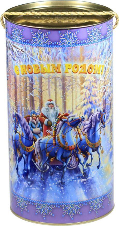 """новогодний тубус """"зимний лес"""" b00026 фотография"""
