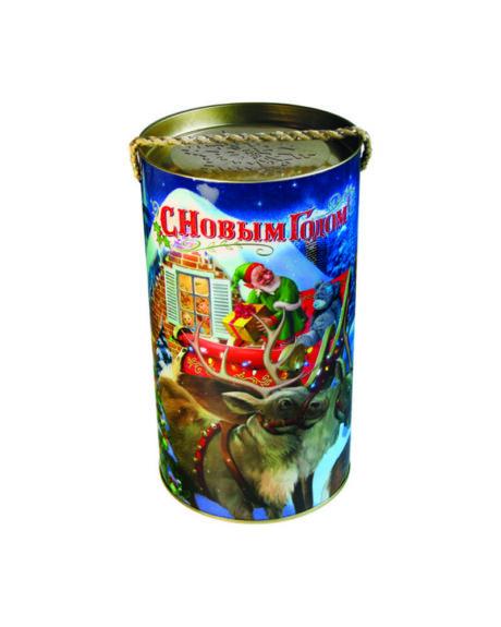 """новогодний тубус """"санта клаус"""" b00096 фотография"""