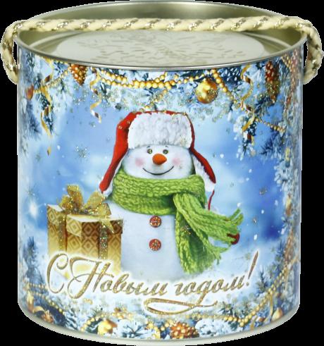 """новогодний тубус """"снеговичок"""" b00153 фотография"""